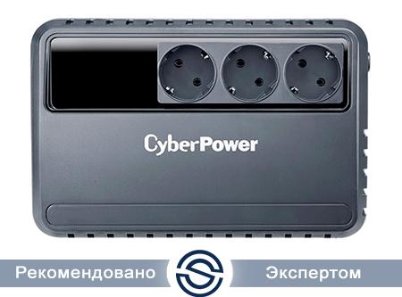 UPS CyberPower 600VA / 360W / AVR / 3xSchuko (CEE 7/4) / BU600E