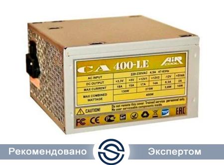 Блок питания AiR-Cool CA-400LE 400W 230V 20+4P PATA+SATA+FDD, Fan 12cm Черный