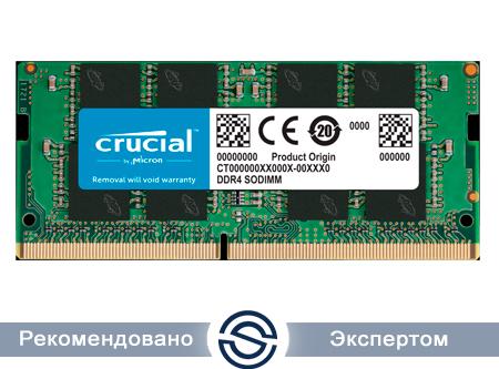 Оперативная память для ноутбука 4Gb DDR4 2666 MHz Crucial PC4-21300 SO-DIMM 1.2V CT4G4SFS6266