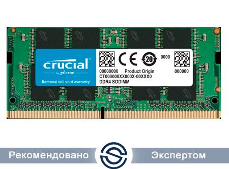 Оперативная память для ноутбука 8Gb DDR4 2400 MHz Crucial PC4-19200 SO-DIMM 1.2V CT8G4SFS824A