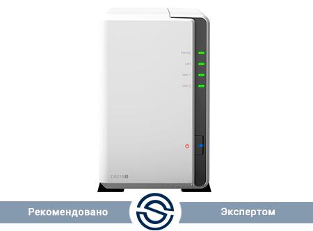 Система хранения данных Synology DiskStation DS218j / 2xHDD / 512 MB DDR3 / Marvell Armada 385 88F6820 Dual Core 1.3 GHz