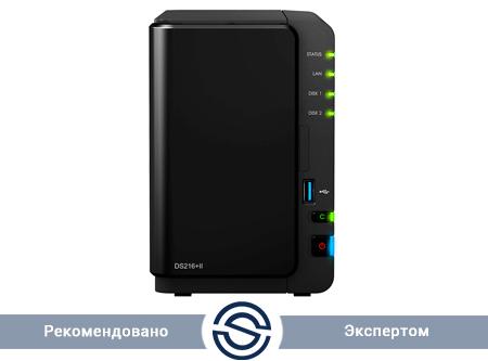 Система хранения данных Synology DiskStation DS218+ / 2xHDD / 2 GB DDR3L / Intel Celeron J3355 2.5 GHz