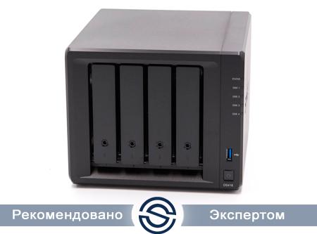 Система хранения данных Synology DS418 / 4xHDD / 2Gb DDR4 / 1400 МГц