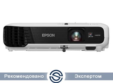 Проектор Epson EB-S04 / 800x600 / 4:3 / 15000:1 / 3000 lm /  VGA+HDMI+USB+S-Video+RCA