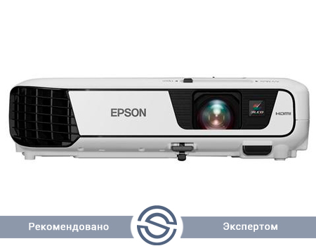 Проектор Epson EB-S31 / 800x600 / 4:3 / 15000:1 / 3200 lm /  VGA+HDMI+USB+S-Video+RCA