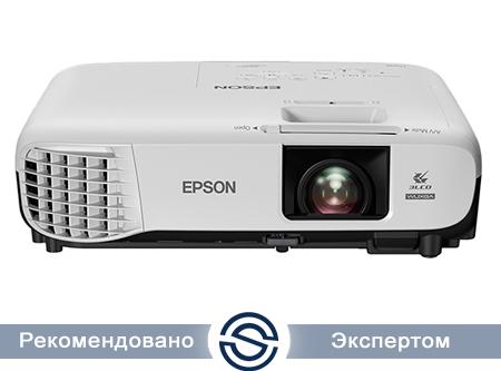 Проектор Epson EB-U05 / 1920x1200 / 16:10 / 15000:1 / 3400 lm / VGA+HDMI+RCA+USB / V11H841040