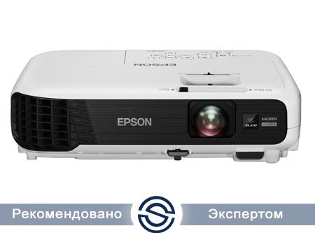 Проектор Epson EB-W04 / 1280x800 / 16:10 / 15000:1 / 3000 lm /  VGA+HDMI+USB+S-Video+RCA