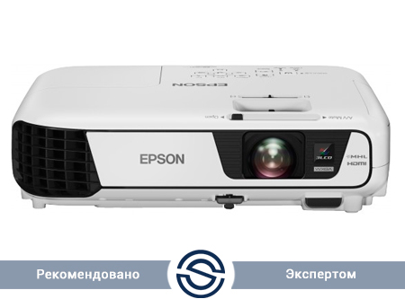 Проектор Epson EB-W31 / 1280x800 / 16:10 / 15000:1 / 3200 lm /  VGA+HDMI+USB+S-Video+RCA