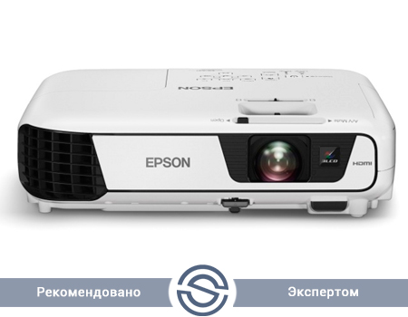 Проектор Epson EB-X31 / 1024x768 / 4:3 / 15000:1 / 3200 lm /  VGA+HDMI+USB+S-Video+RCA