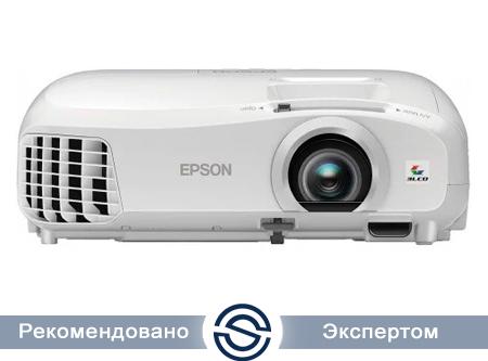 Проектор Epson EH-TW5210 / 1920x1080 / 16:9 / 30000:1 / 2200 lm /  VGA+HDMI+USB+RCA