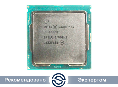 Процессор Intel Core i5-9600K 3,7GHz (4,6GHz) 9Mb 6/6 Core Coffe Lake 95W FCLGA1151
