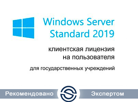 Microsoft Windows Server CAL 2019 Ru Open Level A Government User CAL (R18-05790) для государственных учреждений