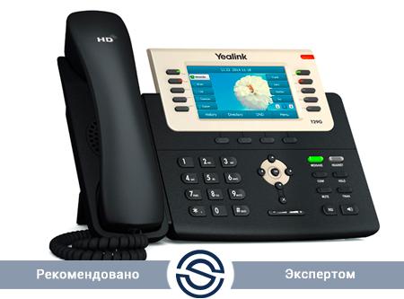 SIP-телефон Yealink SIP-T29G, цветной экран, 16 аккаунтов, PoE, GigE, с БП