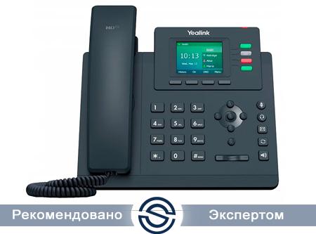 SIP-телефон Yealink SIP-T33P, 4 линии, цветной экран, PoE, c БП