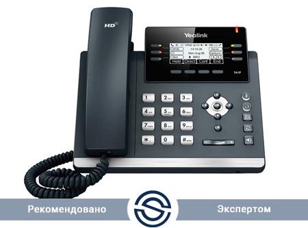 SIP-телефон Yealink SIP-T41P, 6 линий, BLF, PoE, без БП