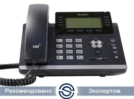 SIP-телефон Yealink SIP-T43U, 12 аккаунтов, 2 порта USB, PoE, GigE, без БП