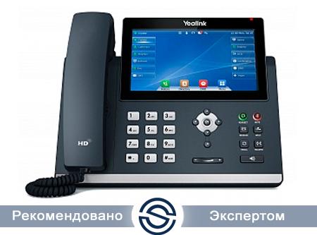 SIP-телефон Yealink SIP-T48U, цветной сенсорный экран, 2 порта USB, 16 аккаунтов, PoE, GigE, без БП