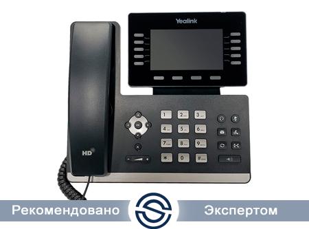 SIP-телефон Yealink SIP-T54W, цветной сенсорный экран, 16 аккаунтов, PoE, Wi-Fi, Bluetooth, без БП