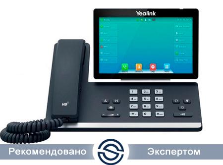 SIP-телефон Yealink SIP-T57W, цветной сенсорный экран, 16 аккаунтов, PoE, Wi-Fi, Bluetooth, без БП