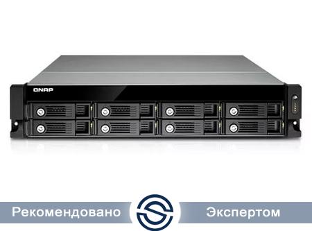 Система хранения данных QNAP TS-853U-RP / 8xHDD / Rack / 2xPS / Intel Celeron J1900 2,0GHz