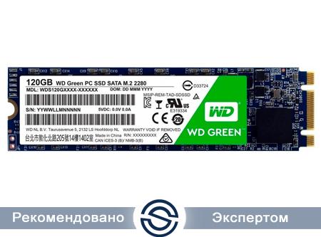 SSD 120Gb WD Green WDS120G2G0B 3D NAND M.2 2280 SATA (TLC)