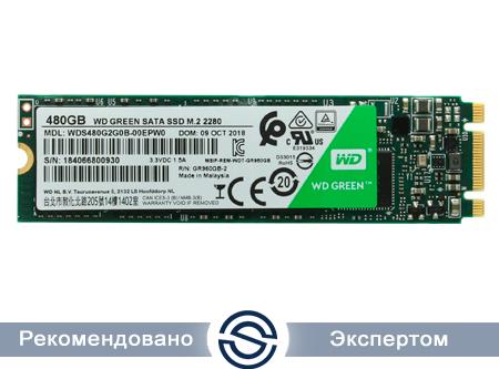 SSD 480Gb WD Green WDS480G2G0B 3D NAND M2.2280 SATA (TLC)