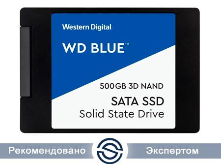 SSD 500Gb WD Blue WDS500G2B0A 3D SATA